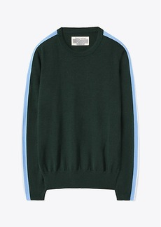 Tory Burch PERFORMANCE CASHMERE DOUBLE-STRIPE SWEATER