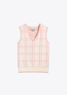 Tory Burch Performance Merino Jacquard Vest