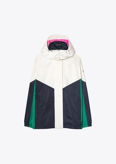 Tory Burch Performance Satin Color-Block Jacket