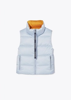 Tory Burch Performance Satin Reversible Down Vest