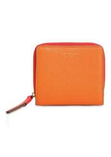 Tory Burch Perry Color Block Compact Leather Wallet