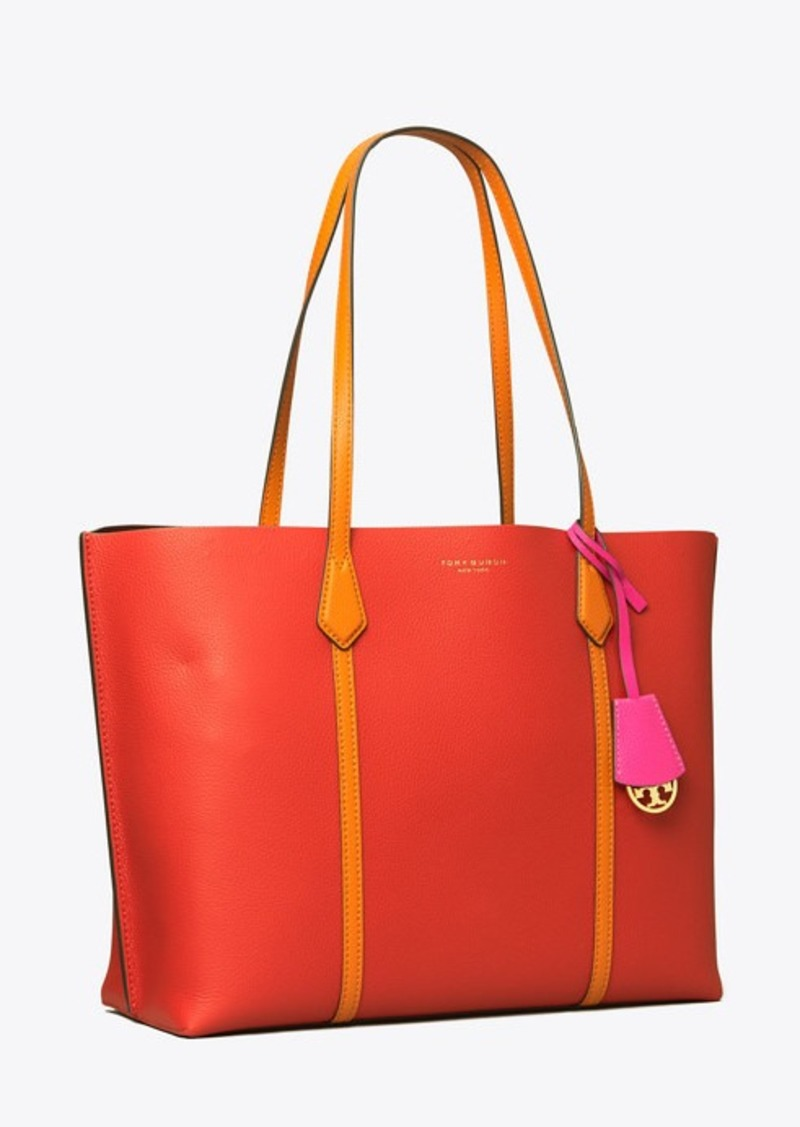 Tory Burch PERRY COLOR-BLOCK TRIPLE-COMPARTMENT TOTE