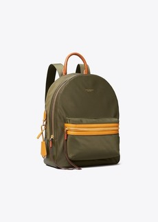 Tory Burch PERRY NYLON COLOR-BLOCK ZIP BACKPACK