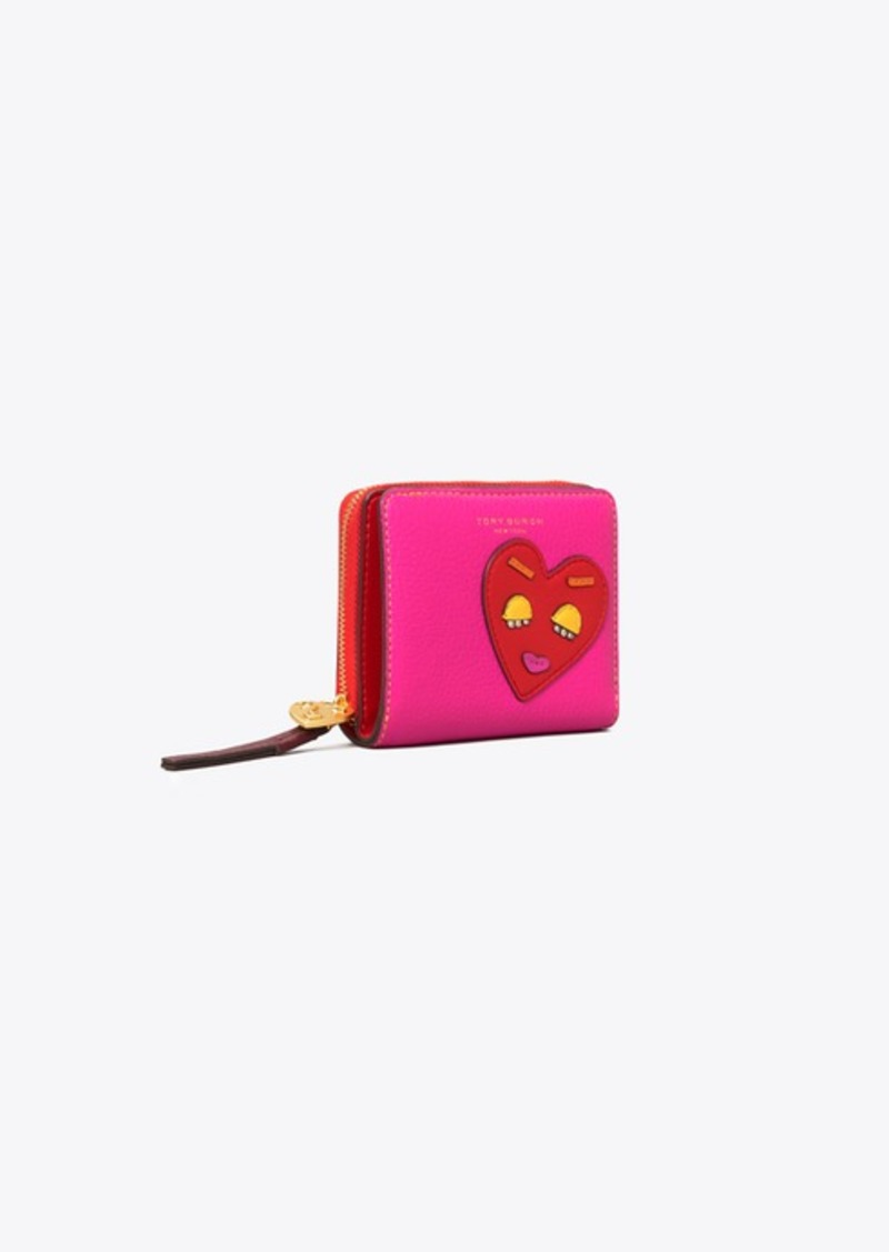 Tory Burch PERRY PATCHWORK HEARTS BI-FOLD WALLET