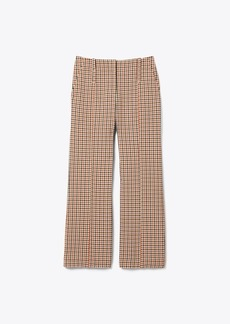 Tory Burch PLAID BOOT-CUT PANT