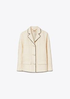 Tory Burch Plaid Tweed Jacket