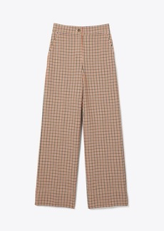 Tory Burch PLAID WIDE-LEG PANT