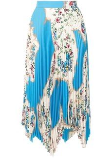 Tory Burch pleated asymmetric skirt