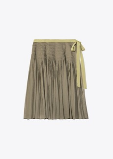 Tory Burch PLEATED COTTON WRAP SKIRT