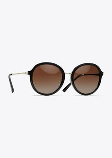 Tory Burch POLARIZED METAL-TEMPLE SUNGLASSES