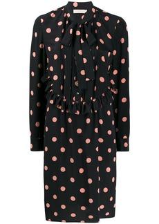 Tory Burch polka dot bow tie dress