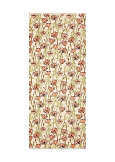 Tory Burch Poppy-Bloom Print Oblong Scarf
