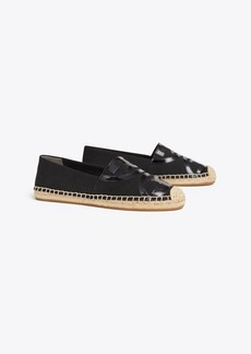 Tory Burch POPPY CANVAS & PATENT ESPADRILLE