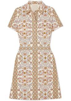 Tory Burch Port Printed Cotton-poplin Dress