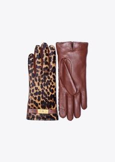 Tory Burch Printed Calf Hair Gloves