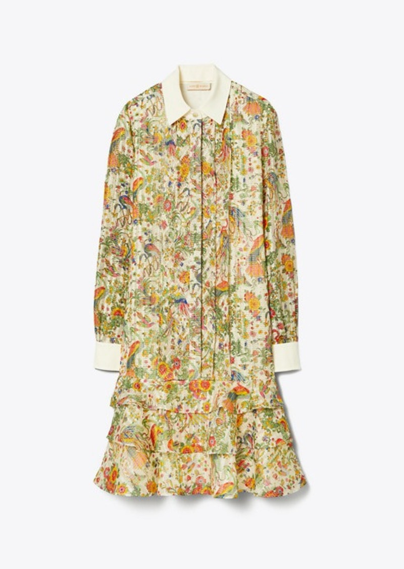 Tory Burch PRINTED CONVERTIBLE LUREX DRESS