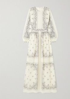 Tory Burch Printed Cotton-voile Maxi Dress