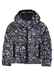 Tory Burch Printed Cropped Down Jacket
