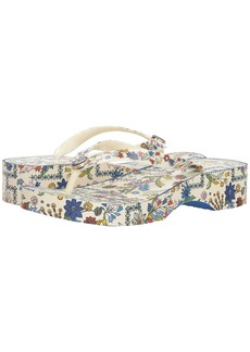 Tory Burch Printed Cut Out Wedge Flip-Flop