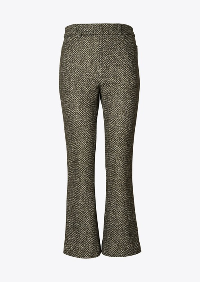 Tory Burch Printed Donegal High-Waisted Pant