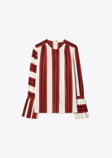 Tory Burch PRINTED FLARE-SLEEVE BLOUSE