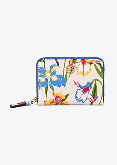 Tory Burch PRINTED FLORAL COIN CASE