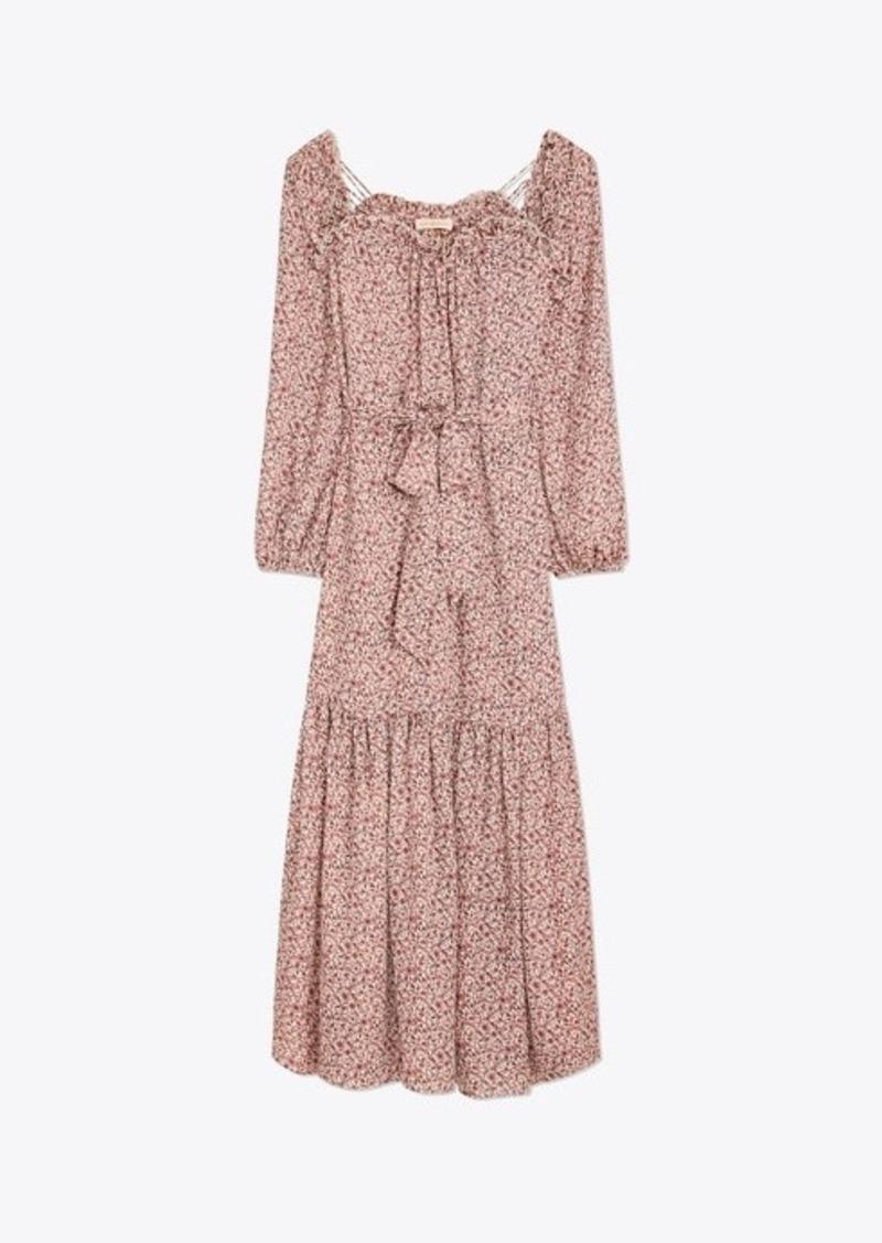 Tory Burch Printed Georgette Maxi Dress