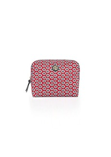 Tory Burch PRINTED NYLON BRIGITTE LARGE COSMETIC CASE