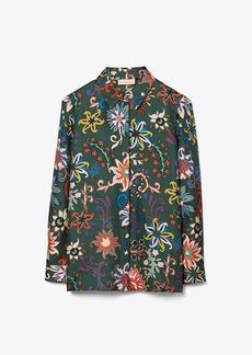 Tory Burch Printed Pajama Top