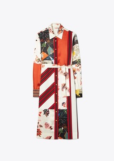 Tory Burch Printed Patchwork Shirtdress