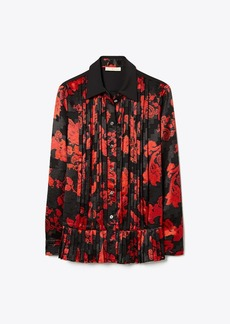 Tory Burch Printed Pleated Shirt