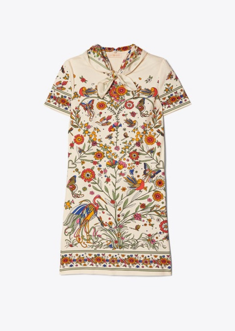Tory Burch PRINTED SCARF T-SHIRT DRESS