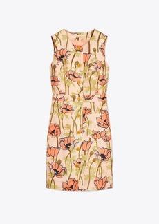 Tory Burch Printed Silk Linen Shift Dress