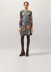 Tory Burch Printed Silk Twill Shift Dress