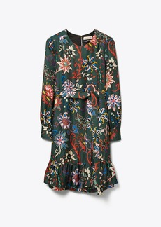 Tory Burch Printed Silk Twill Shift Dress