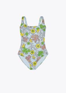 Tory Burch Printed Tank Swimsuit