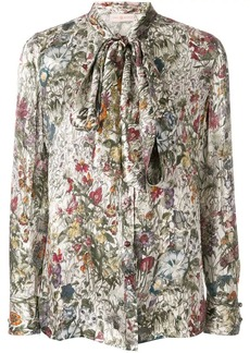 Tory Burch printed tie neck blouse
