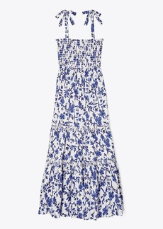 Tory Burch Printed Tie-Shoulder Dress & Matching Face Mask