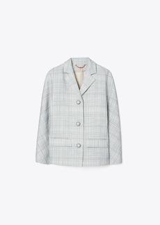 Tory Burch Printed Twill Crepe Jacket