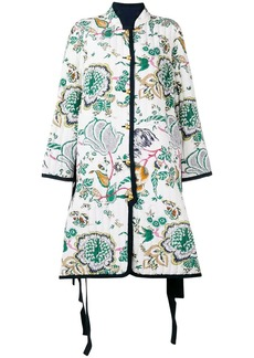 Tory Burch quilted floral print coat