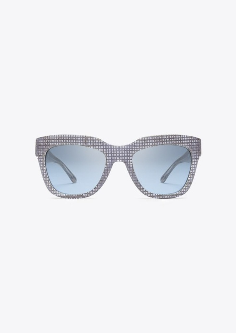 Tory Burch RAFFIA SQUARE SUNGLASSES