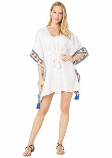 Tory Burch Ravena Embroidered Beach Caftan Cover-Up