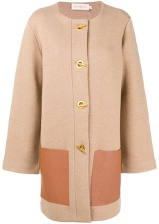 6be6012c78ea0 Tory Burch Colette Single-Breasted Long Wool Coat