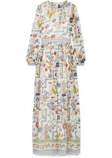 Tory Burch Remi Printed Silk-georgette Maxi Dress