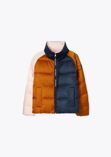 Tory Burch Reversible Color-Block Puffer Jacket