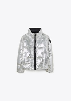 Tory Burch REVERSIBLE METALLIC DOWN JACKET