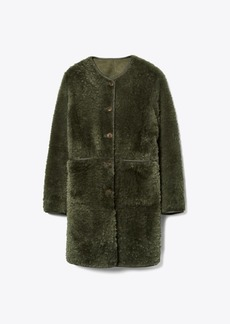 Tory Burch REVERSIBLE SHEARLING COAT