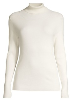 Tory Burch Ribbed Tech Stretch Turtleneck