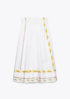 Tory Burch Ribbon Embellished Skirt