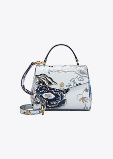 Tory Burch ROBINSON FLORAL SMALL TOP-HANDLE SATCHEL